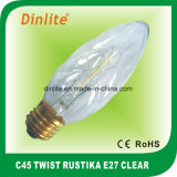 C45 - Ampoule d'or de Rustika de la torsion E27 (8anchors)