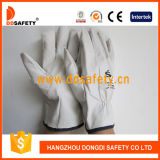 Guante de cuero del conductor de la piel de cabra (DLD522)