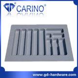 플라스틱 칼붙이 쟁반, 플라스틱 진공 형성된 쟁반 (W595)