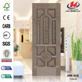 灰HDF型のベニヤのドアの皮