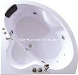 Acrylic quente Um Person Corner Bathtub com Massage (controle TLP-636 pneumático)