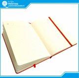 Caderno do calendário da impressão 2016 com couro do plutônio