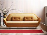 居間のための2愛シートのガラス繊維のソファーは設計する(FS-001)