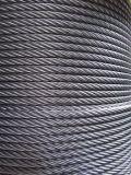 câble métallique matériel d'acier inoxydable de 7X19 6X19+FC 6X19+Iwrc 6X19+ Iws pour le levage