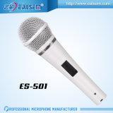 Microphone blanc d'ordinateur de condensateur de corps en métal de couleur d'Ealsem Es-501