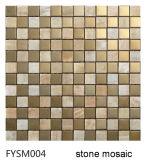 Мозаика нержавеющей стали смешанная мраморный каменная для плитки настила (FYSM004)