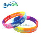 Wristbands svegli del silicone di disegno di fabbricazione dell'OEM