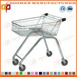 車輪(Zht188)のカスタマイズされたワイヤー金属のスーパーマーケットのショッピングトロリーカート