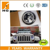 Moto LED 7inch Angel Eyes pour Jeep Harley