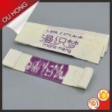 Etiquetas tecidas da seda do tipo costume extravagante