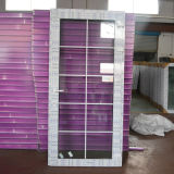 Het witte Dubbele Glas van de Deur van de Gordijnstof van het Profiel van de Kleur UPVC met Net Kz295