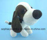 Brinquedo enchido do cão do luxuoso com orelha grande