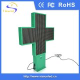Farbenreiches 3D Animation Pharmacy LED Cross Display