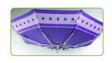 Parapluie compact en aluminium protégeant du vent de satin d'impression (YS-3FM21083941R)