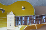 Guitare électrique Semi-Creuse de jazz musique/Es295 de Hanhai avec le corps d'or