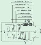 Уплотнение резиновый Bellow неуравновешенности механически (HG9)