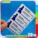 mini carte estampée de fidélité de PVC Keytag avec le code barres (une carte avec petite étiquette trois)