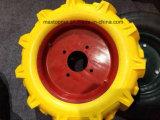 400-8手押し車平らで自由なPUの泡の車輪