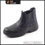 Черная кожаный половинная безопасность колена Boots Sn5119
