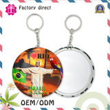6years SGS Factory Round Shaple Od 50mm Tinplate Key Chain/Keyring