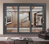Декоративное алюминиевое сползая окно с стеклом искусствоа Tempered