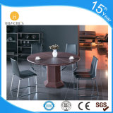 Mesa de centro elevada contemporânea da boa qualidade com couro do PVC (S121)