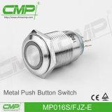 16mmの金属力ランプの押しボタンスイッチ