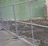 Kettenlink-Zaun-bewegliche Panels, Kettenlink-temporärer Zaun, temporärer Kettenlink-Zaun, galvanisiertes Kettenlink-Fechten