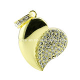 Collier Crystal USB Pendrive Bijoux coeur USB Flash Drive