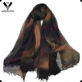 2016 bufanda teñida lazo retro con estilo del cambio 100%Modal del color