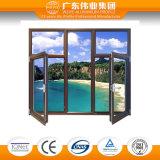 كسر حراريّة ألومنيوم خشبيّة شباك ونقطة معيّنة نافذة مع اثنان نافذة لوح