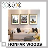 décor en bois d'art de cadre de tableau de mur d'impression de toile de 5 '' *7 '' Mulit