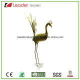 Figurine décorative de paon en métal de jardin pour la décoration d'intérieur et extérieure