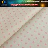 Tissu d'impression de pongé de sergé de polyester de POINT pour le vêtement