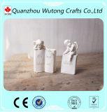 Estatuillas caseras del ángel del libro blanco de la resina de la decoración