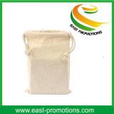 Sacola de lona de algodão de cor pura com logotipo da marca