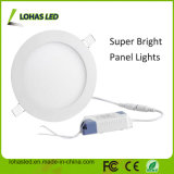 Luz de techo plana del LED, dispositivo ligero ultrafino Dimmable redondo, blanco caliente ahuecado mentido del panel de 18W LED de la lámpara plana de Downlight