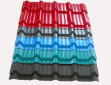 내미는 PVC에 의하여 유약 지붕 Tileplastic 착색되는 생산 기계를 만들기
