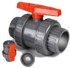 Vávula de bola doble estándar de la unión del PVC del ANSI JIS BS del estruendo