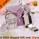 Grundbesitz-fördernder Geschenk-Metallhaus USB Pendrive (YT-1245)
