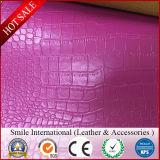 Кожа губки PVC, кожа PVC синтетическая для места автомобиля и софа для ткани