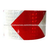 Bande r3fléchissante de largeur rouge et blanche de la flèche 10cm pour la sécurité routière