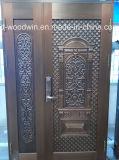 Porte d'entrée de sécurité Foshan Woodwin Porte de cuivre pur