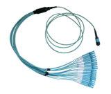 Поставка MPO-LC фабрики, шнур заплаты оптического волокна MPO-MPO