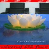 Красивейший пластичный плавая свет цветка лотоса СИД для снаружи