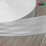 Correas de nylon blancas blanqueadas 2 pulgadas del cinturón de seguridad