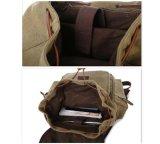 Satchel Bookbag рюкзака Backpack холстины сбор винограда Hiking мешок (хаки)