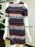 Künstlerisches Kleid der Frauen mit All-Over Drucken