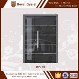 Porte de villa/porte articulée par aluminium/porte en aluminium en verre de bâti