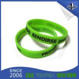 Bracelet en caoutchouc fait sur commande de silicones de Silkscreen de bracelet à la mode de qualité